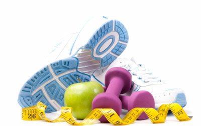workout and diet equipment